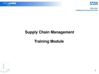 Supply Chain Management Training Module