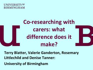 Co-researching with carers: what difference does it make?