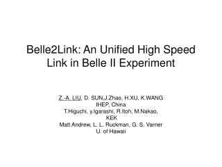 Belle2Link: An Unified High Speed Link in Belle II Experiment