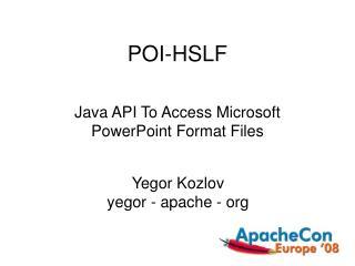 POI-HSLF