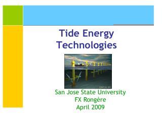 Tide Energy Technologies