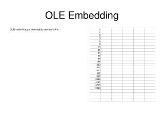 OLE Embedding