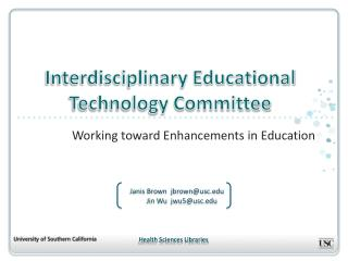 Interdisciplinary Educational Technology Committee