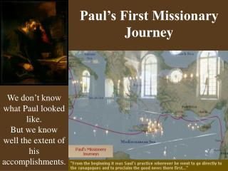 Paul s First Missionary Journey