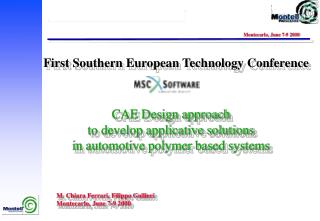 CAE Design approach to develop applicative solutions in automotive polymer based systems