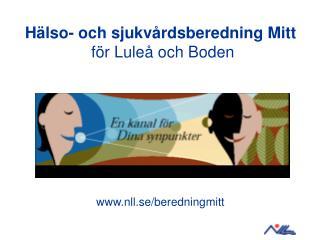 Hälso- och sjukvårdsberedning Mitt för Luleå och Boden