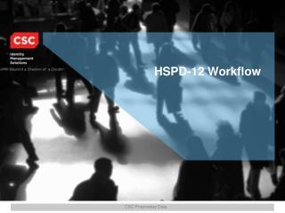 HSPD-12 Workflow