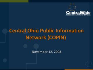Central Ohio Public Information Network (COPIN)