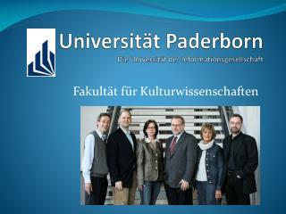 Universität Paderborn Die Universität der Informationsgesellschaft