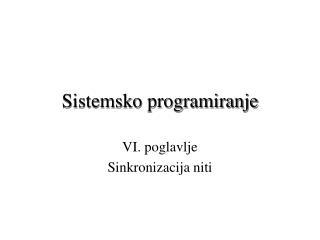 Sistemsko programiranje
