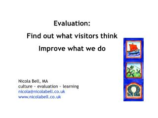 Evaluation: Find out what visitors think Improve what we do