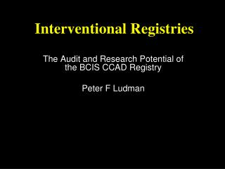 Interventional Registries