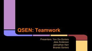 QSEN:  Teamwork