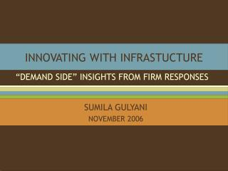 INNOVATING WITH INFRASTUCTURE