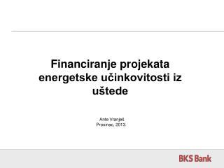 Financiranje projekata energetske učinkovitosti iz uštede