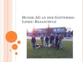 Hunde AG an der Gottfried-Linke- Realschule