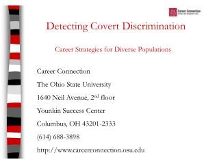Detecting Covert Discrimination