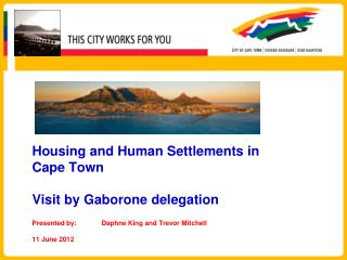 Integrated Human Settlements Mandate