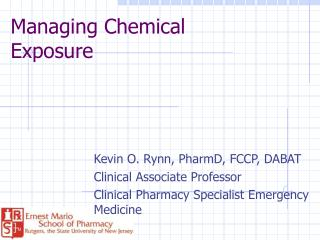 Managing Chemical Exposure
