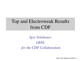 Top and Electroweak Results from CDF
