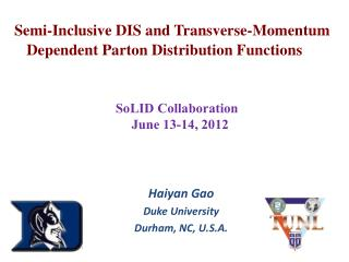 Semi-Inclusive DIS and Transverse-Momentum Dependent Parton Distribution Functions