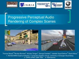 Progressive Perceptual Audio  Rendering of Complex Scenes