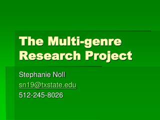 The Multi-genre Research Project