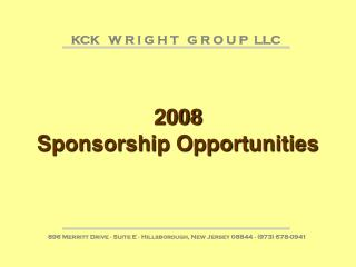 2008 Sponsorship Opportunities