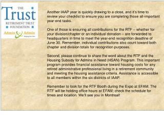 RTF Banner blurb for June newsletter