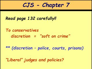 CJS - Chapter 7