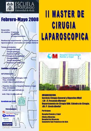 II MASTER DE CIRUGIA  LAPAROSCOPICA