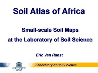 Small-scale Soil Maps  at the Laboratory of Soil Science