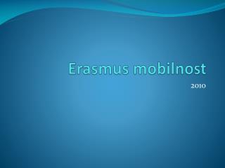 Erasmus mobilnost