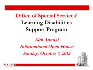 Office of Special Services' Learning Disabilities  Support Program
