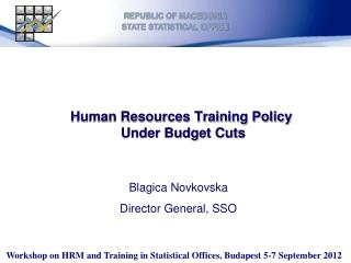 Human Resources Training Policy  Under Budget Cuts