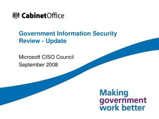 Government Information Security Review - Update