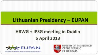 Lithuanian Presidency – EUPAN