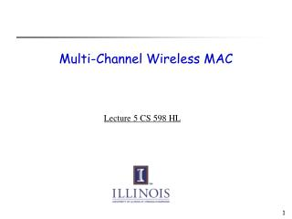 Multi-Channel Wireless MAC