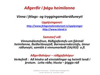 Aðgerðir í þágu heimilanna