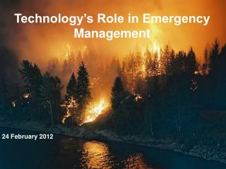 Technology's Role in Emergency Management