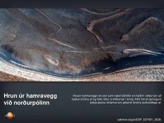Hrun úr hamravegg við norðurpólinn