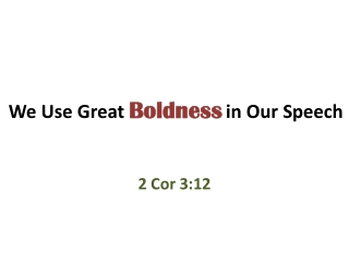 The Boldness of the Church Acts 4:1-31