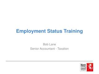 Employment Status Training