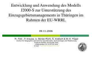 M. Fink , P. Krause, U. Bende-Michl, S. Kralisch & W.-A. Flügel