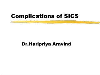 Complications of SICS