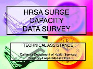 HRSA SURGE CAPACITY DATA SURVEY