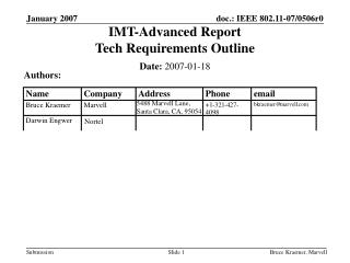 IMT-Advanced Report  Tech Requirements Outline