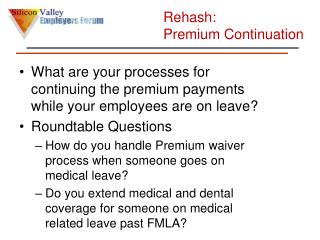 Rehash:  Premium  Continuation