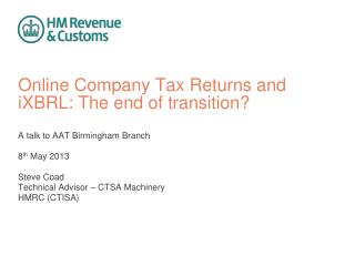 Online Company Tax Returns and iXBRL: The end of transition?