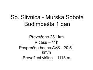 Sp. Slivnica - Murska Sobota Budimpešta 1 dan